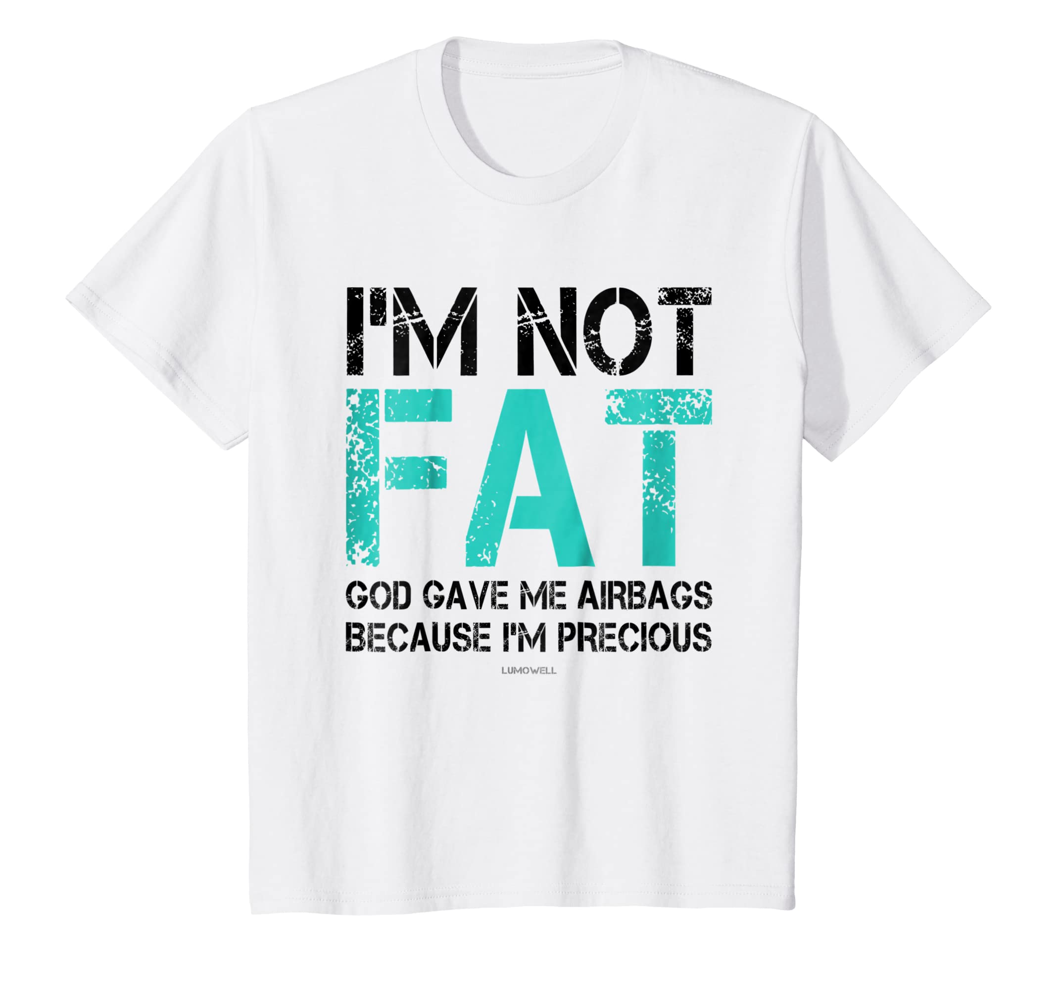 3ec60aa6601 Amazon.com  Not Fat but Precious God and Airbags Funny Plus Size Shirts   Clothing