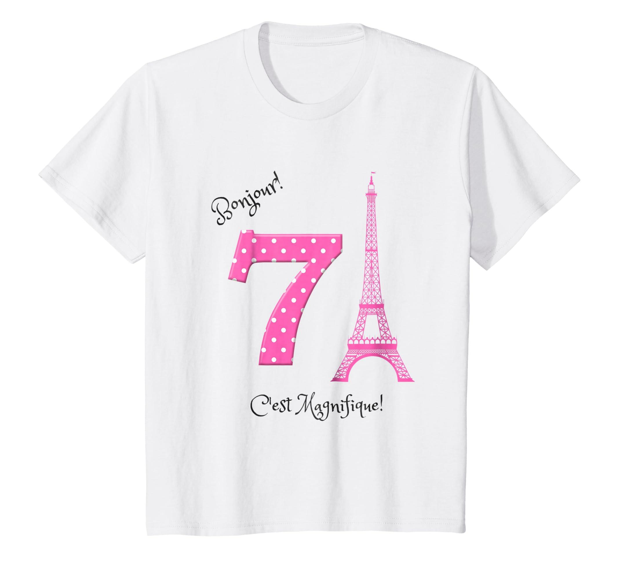 Amazon Kids A Day In Paris Girls Seventh Birthday Shirt Clothing
