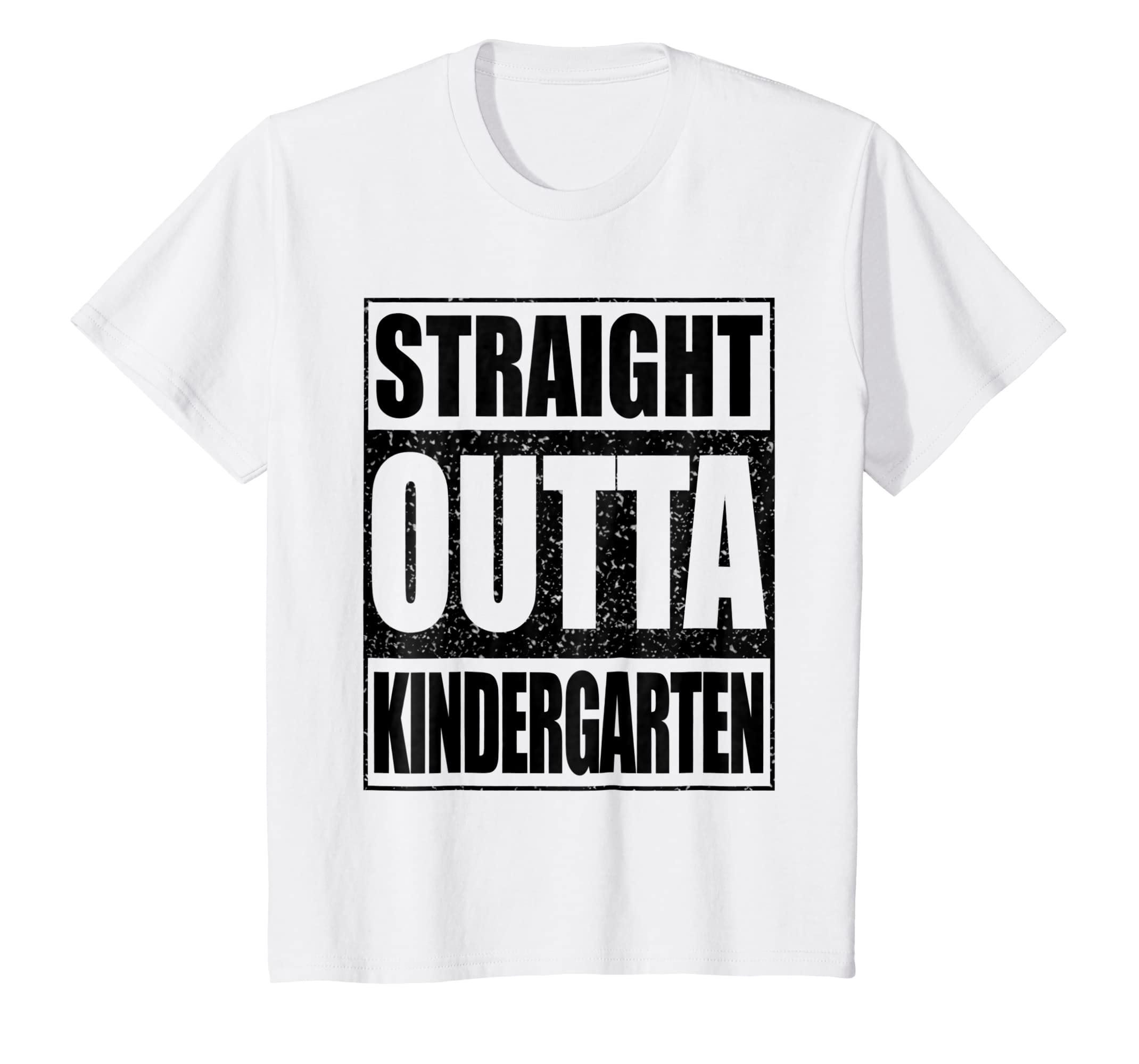 ce1013ac5947 Amazon.com  Kids Straight Outta Kindergarten T-Shirt Funny Graduation Gift   Clothing