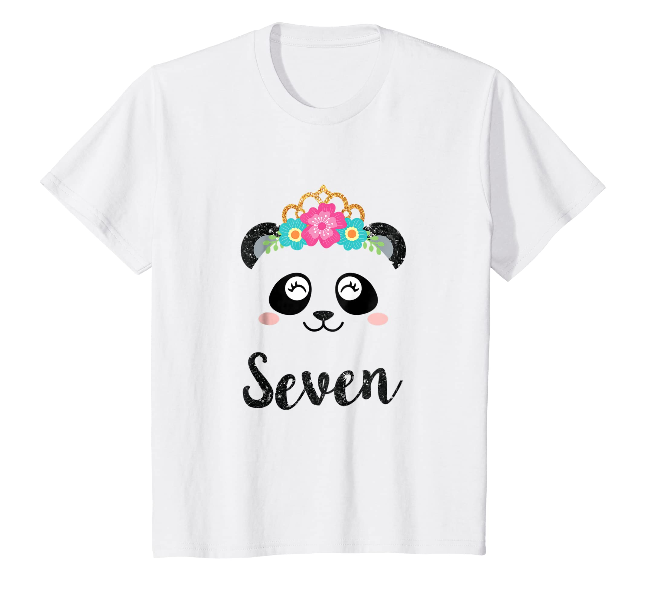 Amazon Panda Girl 7th Birthday Outfit Kids Seventh Shirt Clothing