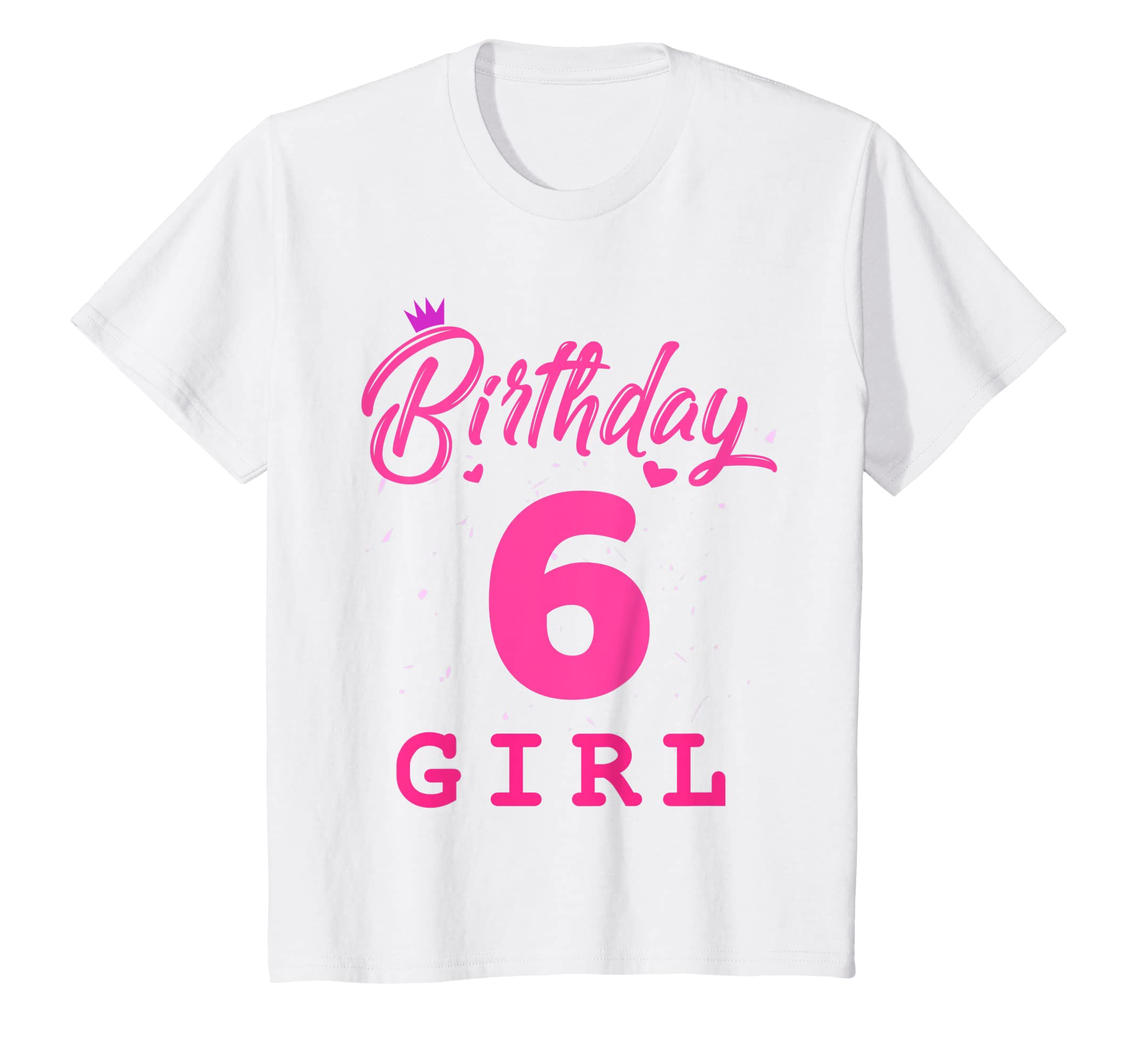 Amazon Happy Birthday Shirt Girls 6th Party 6 Years Old Bday Clothing