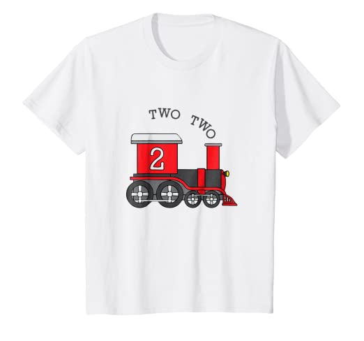 Amazon Kids Two Train 2nd Birthday T Shirt Clothing