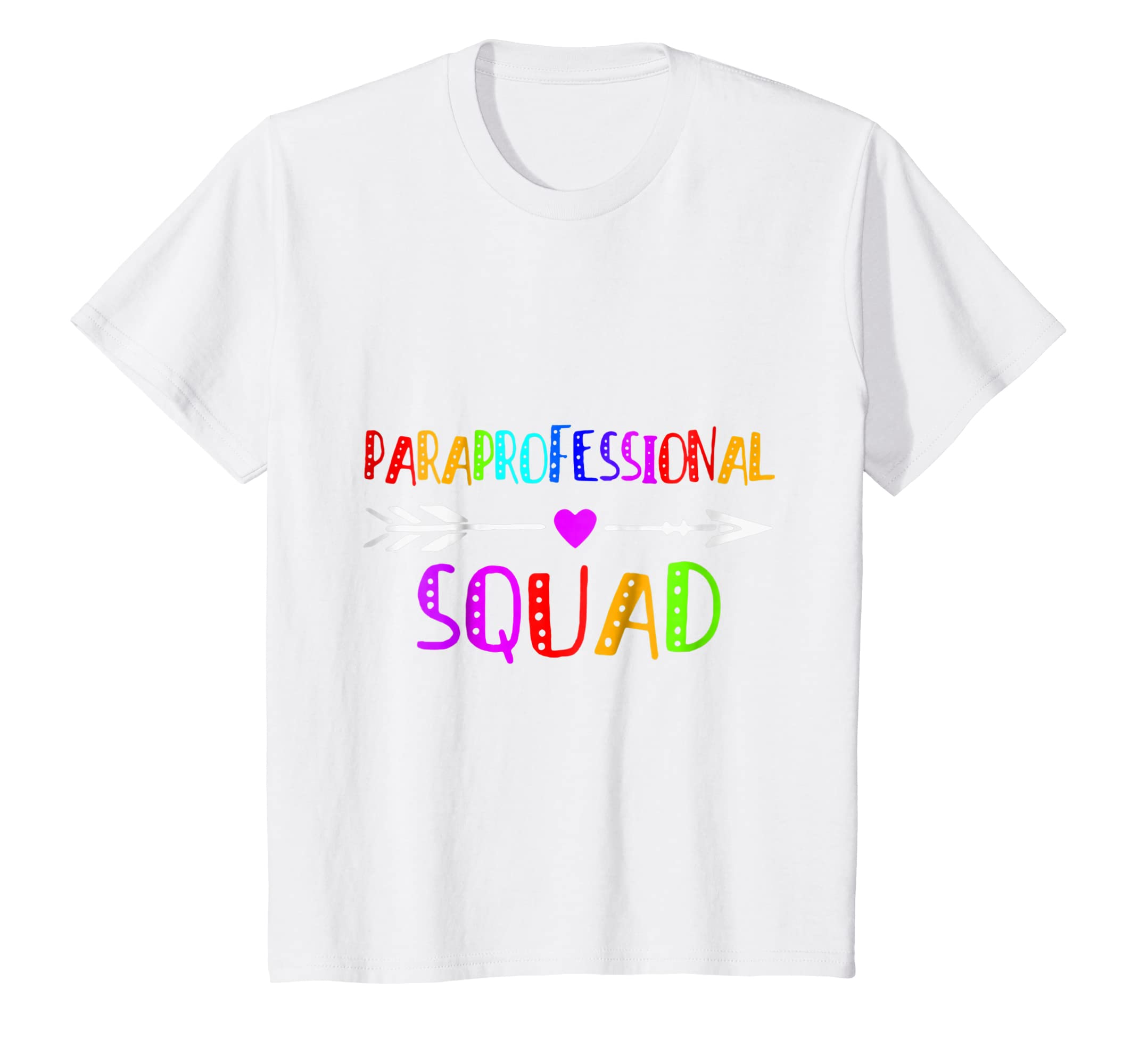 370c7d71 Amazon.com: Paraprofessional Squad Shirt Funny Paraeducator Gift: Clothing