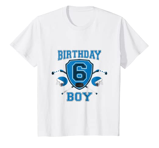 Image Unavailable Not Available For Color Kids 6th Sixth 6 Six Years Old Happy Birthday Boy Hockey T Shirts