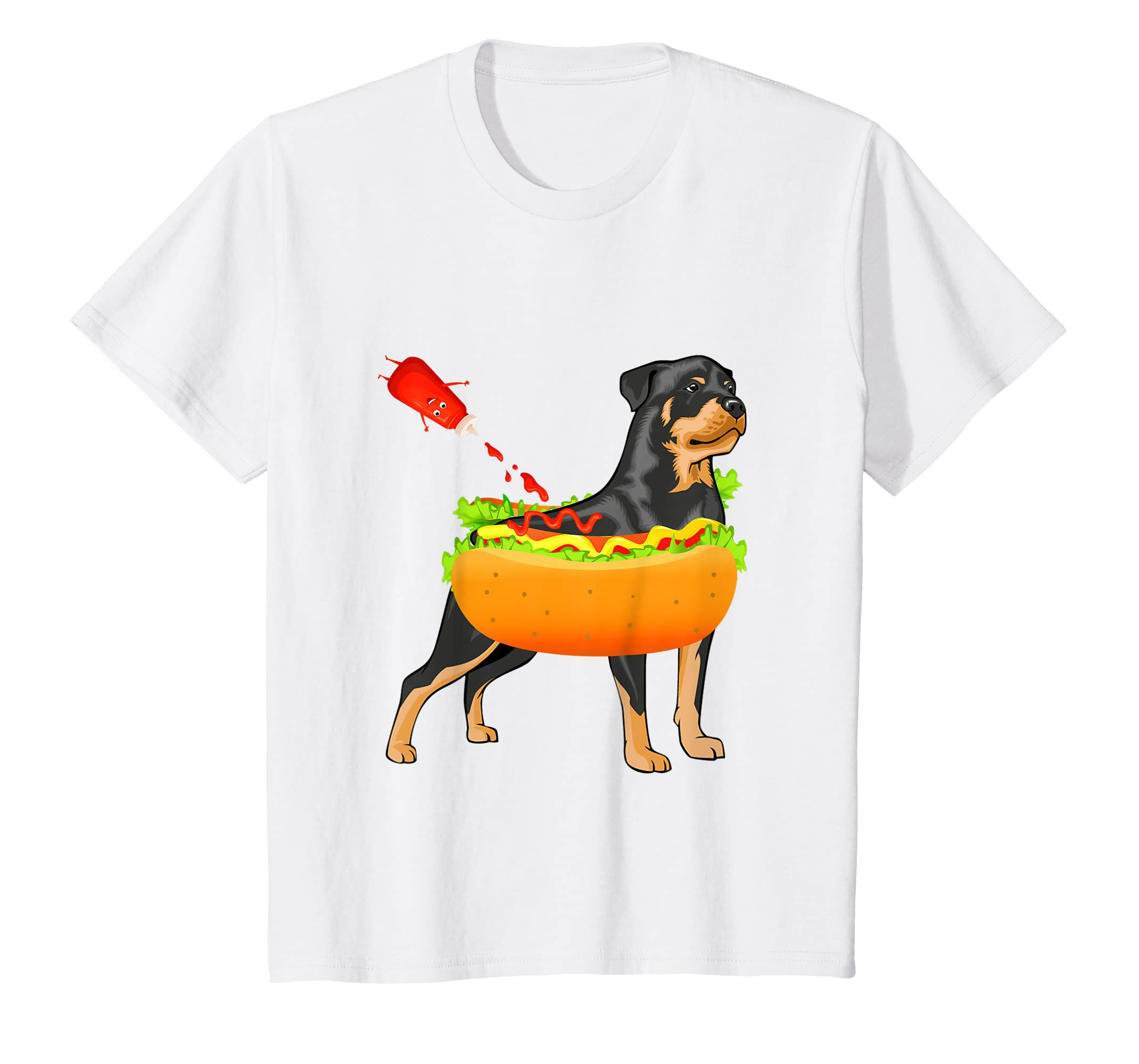 188963c2ff Amazon.com: Rottweiler Hot Dog Tee Funny Hot Dogs Christian Foodie Shirt:  Clothing