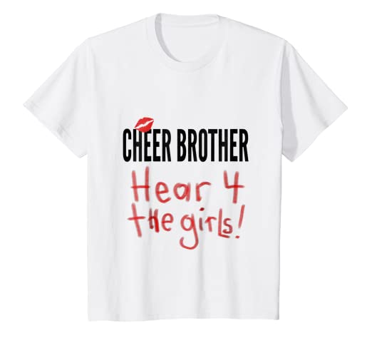 0890af11 Amazon.com: Kids Cheer Brother Here for the Girls Cheerleading Boys ...
