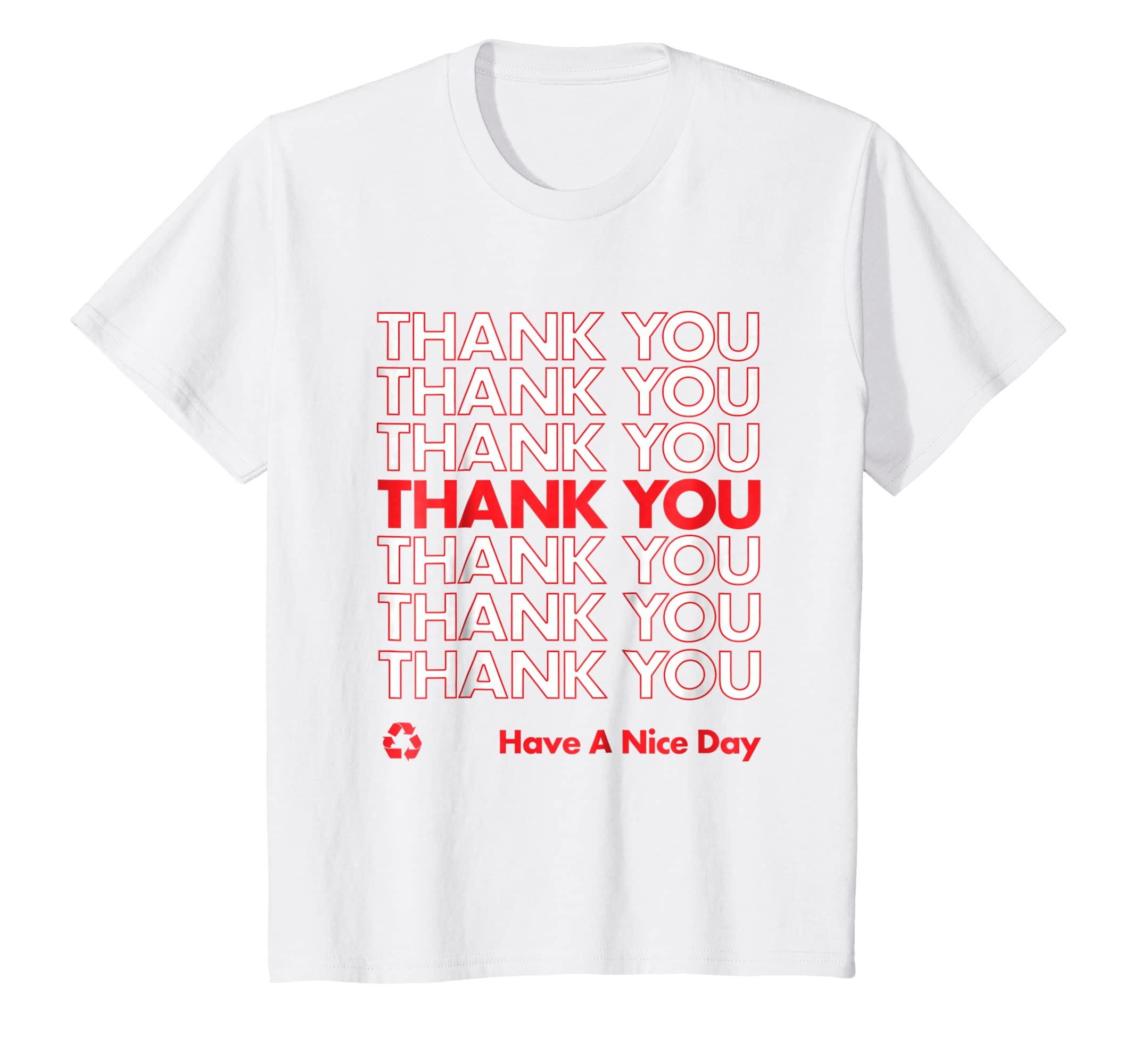 4011637f Amazon.com: Thank You Have A Nice Day shirt Halloween Plastic Bag tshirt:  Clothing