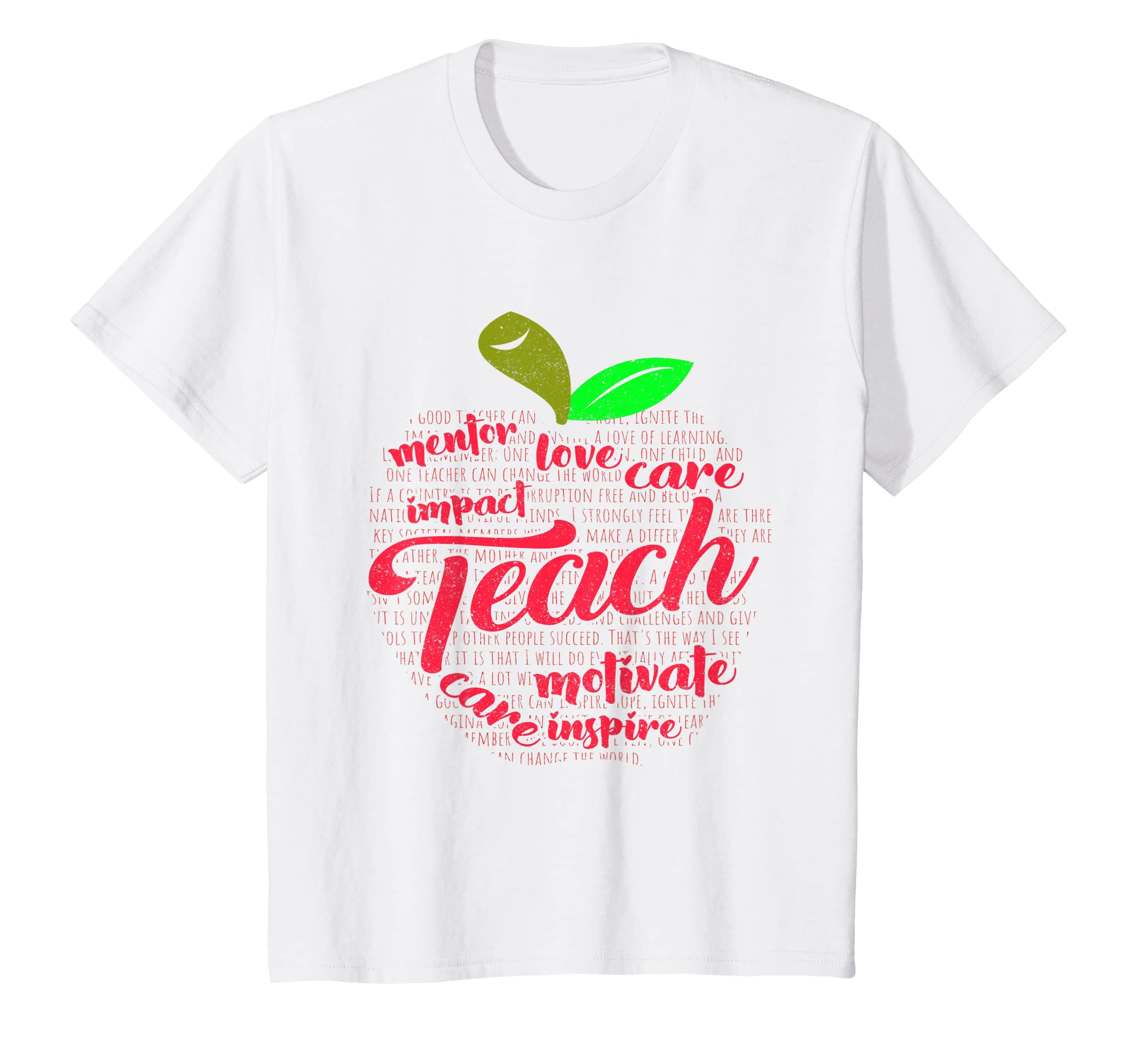 2010d90cd6 Amazon.com: 'Apple of Words' Cute Kindergarten Teacher Gift Shirt: Clothing