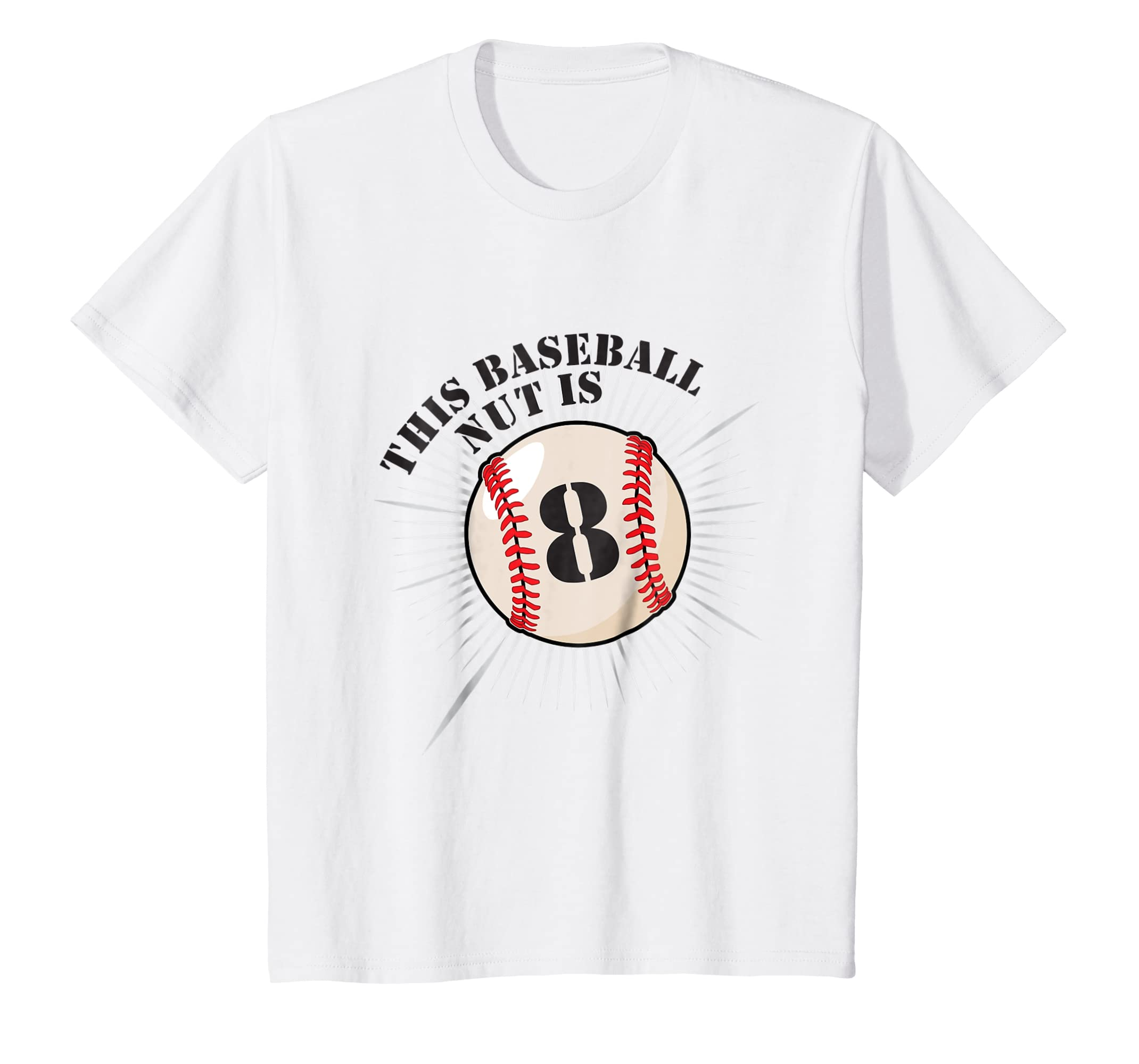 Amazon Kids 8th Birthday Boys Baseball T Shirt Party 8 Year Old Clothing