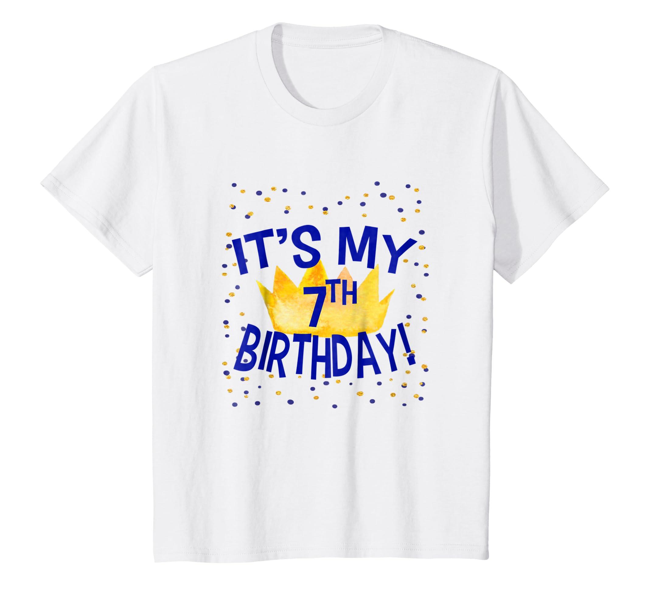 Amazon Its My 7th Birthday Kids T Shirt Boys Seventh Clothing