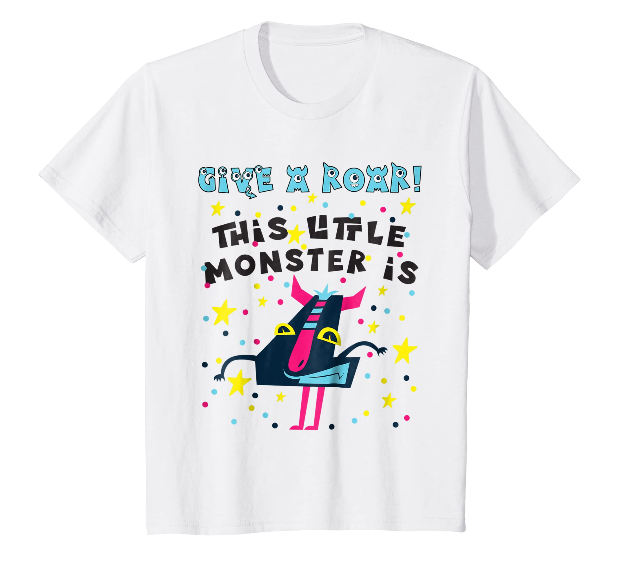 Amazon Kids Monster Birthday Shirt Four 4 Year Old Boy Girl 4th Fourth Clothing