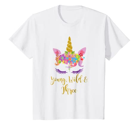 Image Unavailable Not Available For Color Kids 3rd Birthday Unicorn Girl Tshirt