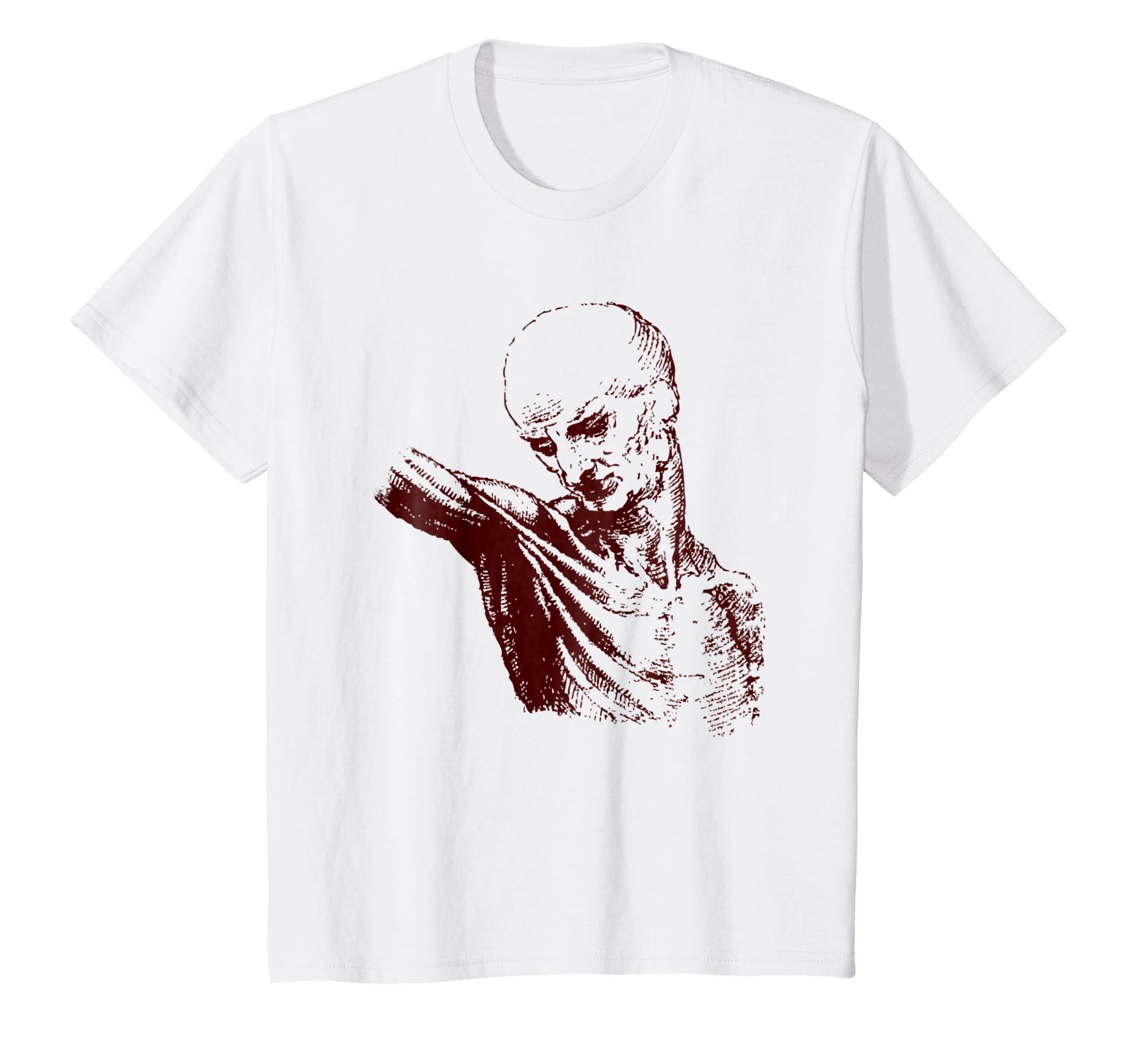 Amazon Leonardo Art T Shirt Da Vinci Sketch Human Anatomy Tee