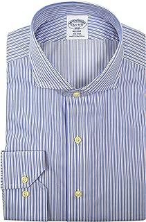 Brooks Brothers Men's Regent Fit Non Iron Dress Shirt Blue White Black Striped