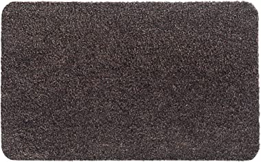 Aqualuxe Brown Polyester Entrance Mat for Indoors, 60 x 100 cm
