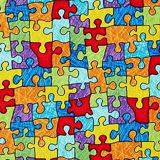 Best puzzle piece fabric Reviews
