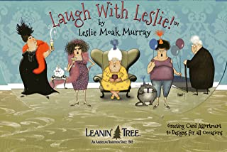 Leanin' Tree Greeting Cards - Laugh With Leslie by Leslie Moak Murray - 20 Greeting Cards with Full-color Interiors and Designed Envelopes