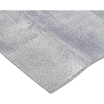 "Aluminum & Fiberglass Heat Shield Barrier with Adhesive Backing 12""x39"" (3.3 Sq. Ft)"