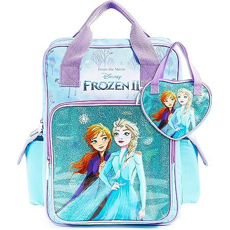 Disney Rucksack Schule, Frozen 2 Set mit Rucksack und Handtasche Mädchen, Glitzer Rucksack Kinder mit Anna und ELSA, Reise und Schule Zubehör, Disney Geschenke für Kinder