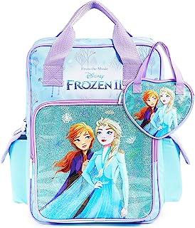 Disney Mochila Escolar Frozen 2 con Elsa y Ana + Bolso Niña, Mochilas Escolares Juveniles con Princesas Disney, Bolsa Infa...