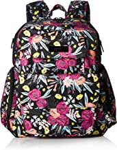 JuJuBe Be Nurtured Large Breast Pump Backpack, Onyx Collection - Black and Bloom