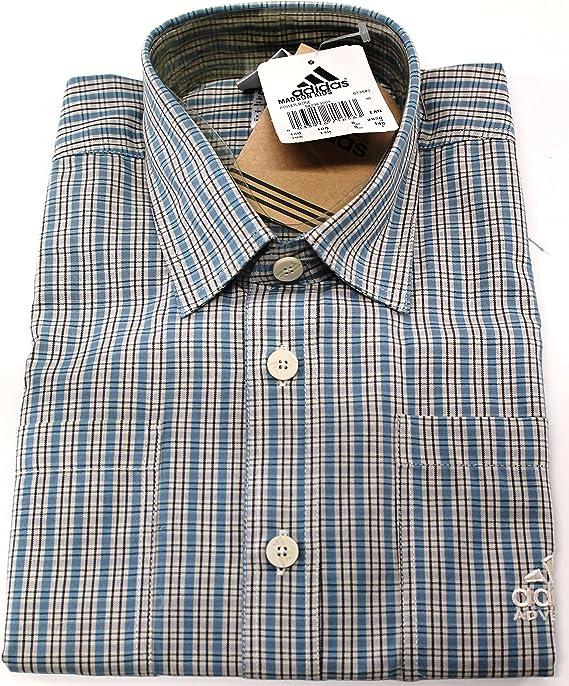 adidas - Camisa - con botones - Cuadrados - Manga corta ...