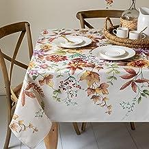مفرش مائدة بينسون ميلز بتصميم زهور الخريف للاستخدام في الأماكن المغلقة والمفتوحة، 152.4 سم × 213.3 سم، متعدد الألوان