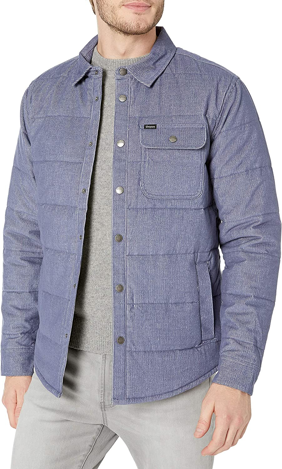 Brixton Men's Cass Tailored-fit Quilted Jacket