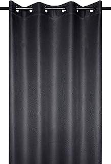 Lovely Casa COPENHAGUE Blackout Curtain 140 x 260 cm Polyester Anthracite