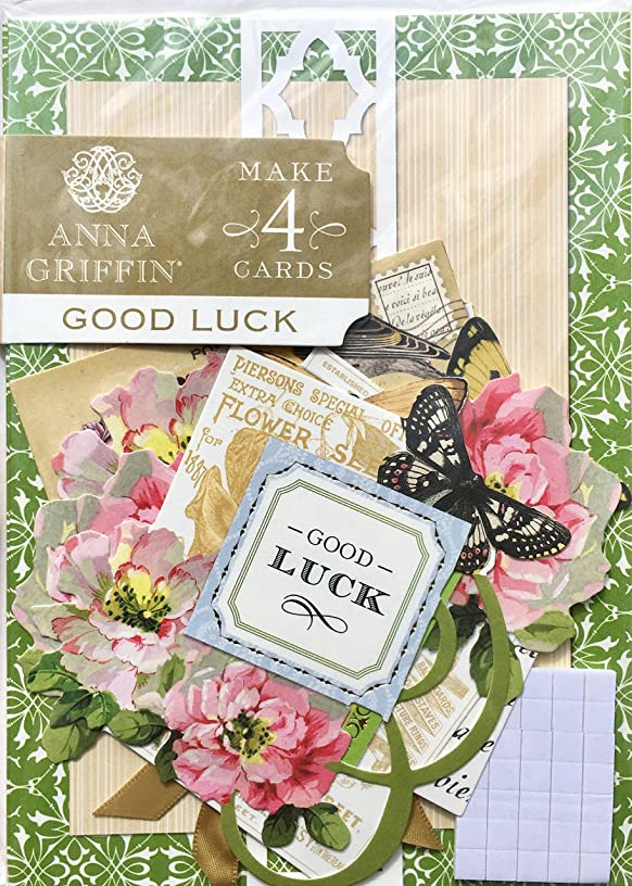 Anna Griffin GOOD LUCK Card Making Kit | Makes 4 Embellished Cards