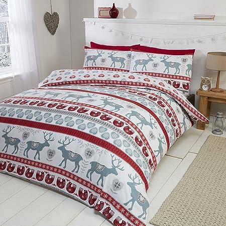 Bettwäsche 135x200|200x200|200x220|220x240 cm Bettbezug Baumwolle HEART ROT