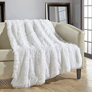 Chic Home 1 Piece Elana Shaggy Faux Fur Decorative Throw Blanket, 50