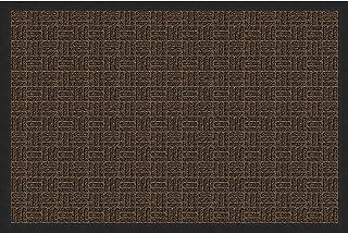 Amazon Basics Molded Carpet & Rubber Commercial Scraper Entrance Mat Parquet Pattern 2x3 Brown