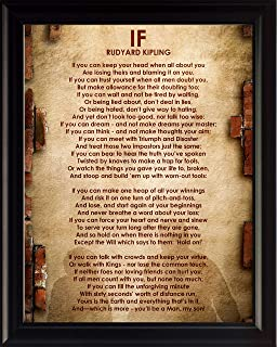 """WeSellPhotos Rudyard Kipling Poem """"If"""" 