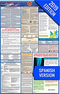 2019 Florida (Spanish) Labor Law Poster – State, Federal, OSHA Compliant – Single Laminated Poster
