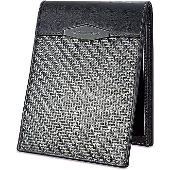 COLDFIRE - Carbon Fiber Wallet - Tactical EDC Handmade Genuine Kangaroo Mens Leather Wallets Bifold Minimalist Wallet for Men RFID Blocking, Slim Cash Credit Card Holder. Gift for Him. Made in Europe!