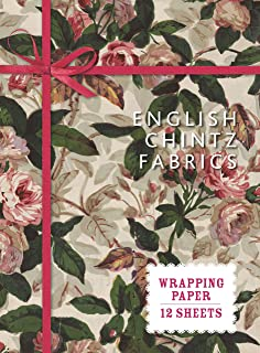 English Chintz Fabrics: Wrapping Paper: 12 Sheets (Wrapping Paper Books)