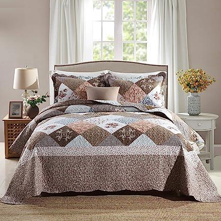 Travan 3-Piece King Quilt Sets with Shams Oversized Bedding Bedspread Coverlet Set
