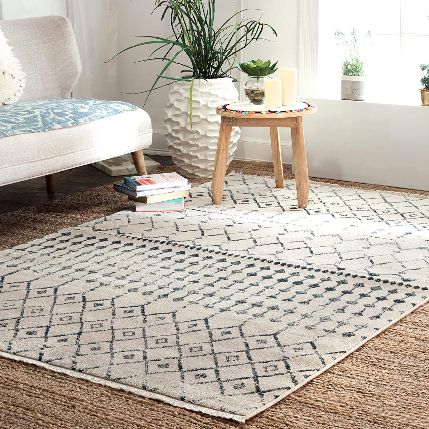 nuLOOM Kristi Vintage Moroccan Area Rug Beige 6' OFFicial x SEAL limited product 4