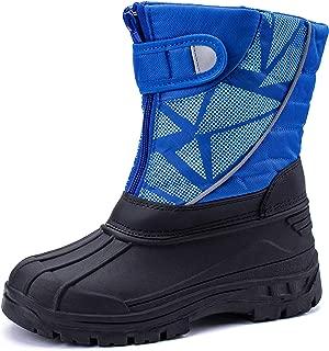 pokenis Kids Snow Boots Winter Waterproof Shoes Slip Resistant Outdoor Warm (Toddler/Little Kid)