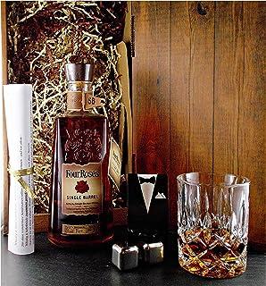 Geschenk Four Roses Single Barrel Whiskey  Whisky Glas  2 Kühlsteine