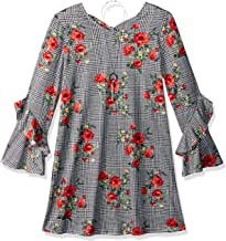 Amy Byer Girls' Big Tiered Sleeve A-line Knit Dress