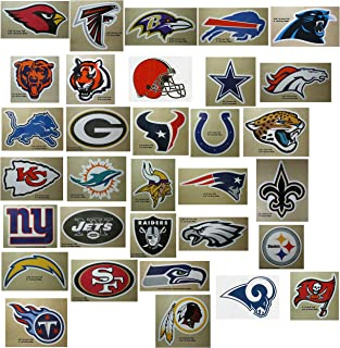 FIFTY NFL Stickers Football Team Logos One Complete set (32) +(18) extras=50