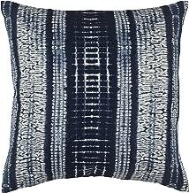 Stone & Beam Yarn-Dyed Shibori Decorative Throw Pillow, 17 x 17, Blue