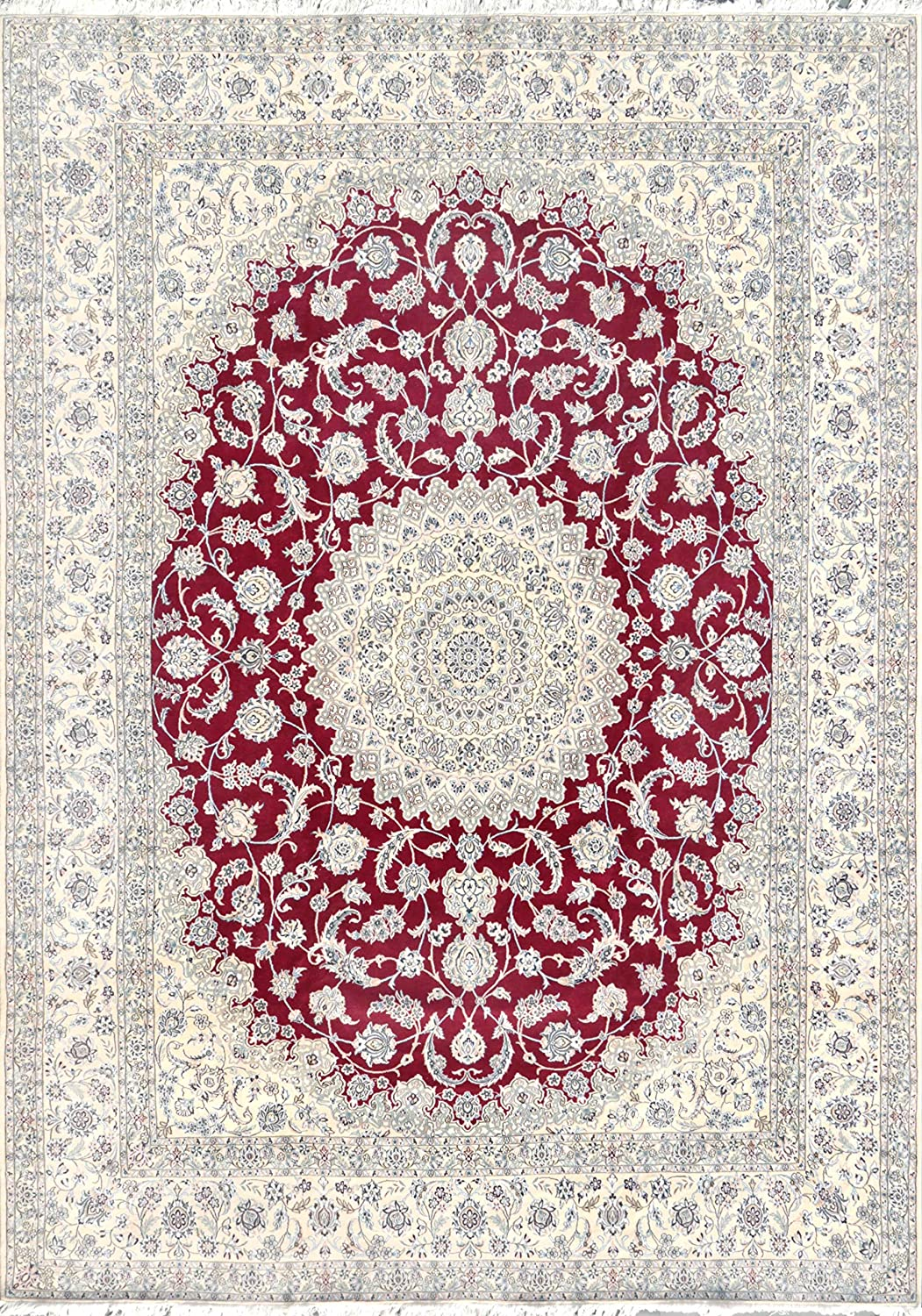 Pasargad Carpets Nain Collection NEW Hand Area Wool Rug 10' Max 54% OFF Knotted