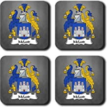 McLeod Coat of Arms/Family Crest Coaster Set, by Carpe Diem Designs – Made in the U.S.A.
