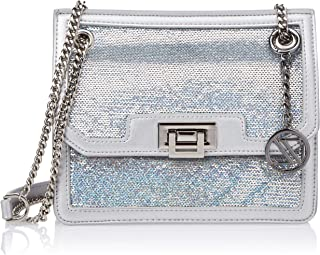 Zeneve London Crossbody Bag for Women, Silver, 119880000021