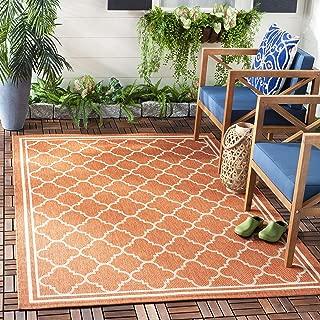 Safavieh Courtyard Collection CY6918-241 Terracotta and Bone Indoor/ Outdoor Area Rug (5'3
