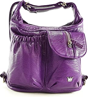 Mini Butterfly Convertible Purse (Backpack and Shoulder Bag) in Soft Vegan Leather