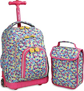 Best j world rolling backpack with lunch bag Reviews